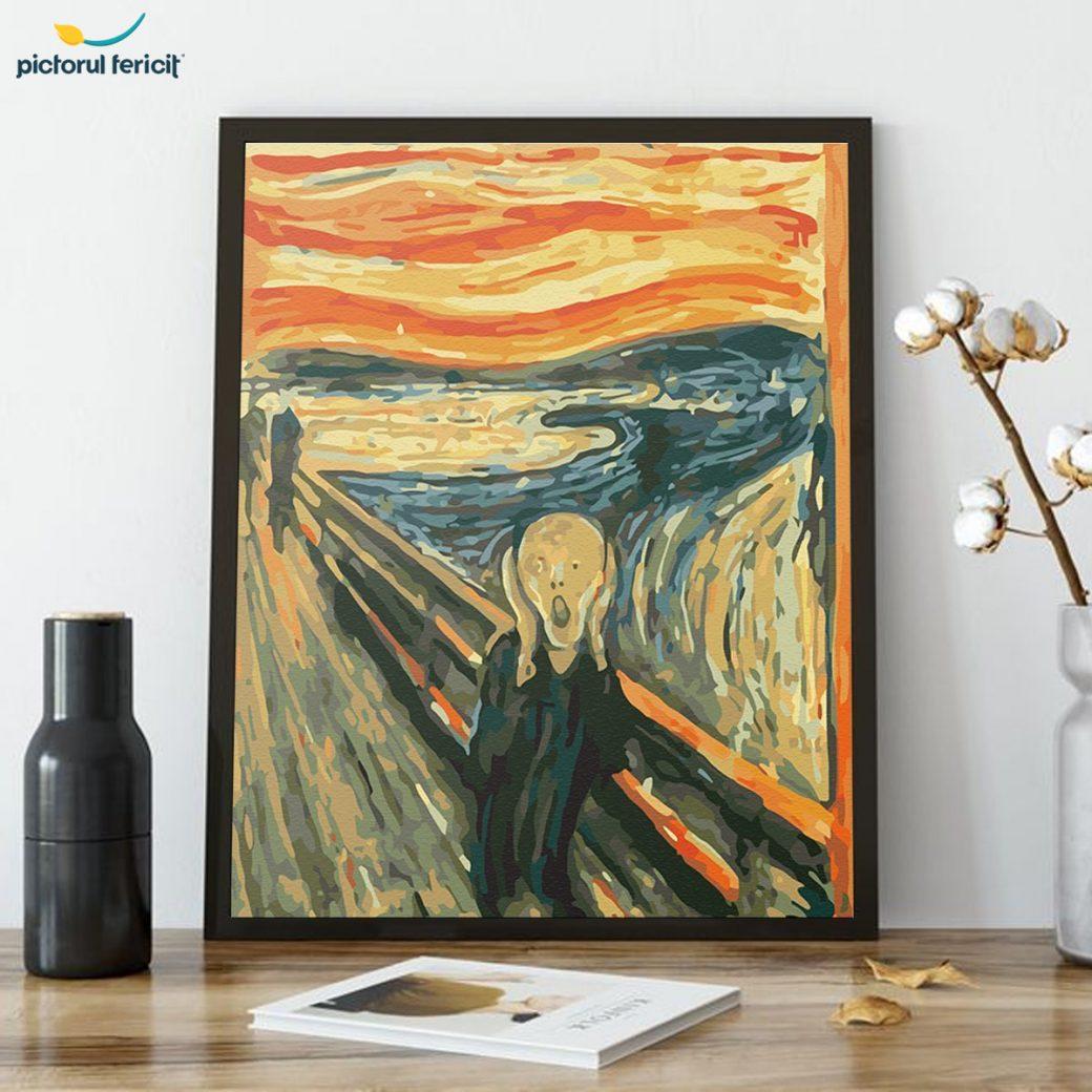 pictura pe numere celebra de la pictorul fericit
